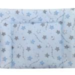 poduszka minky niebieska tył