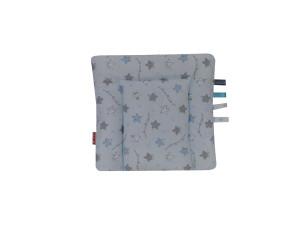 poduszka bawełna niebieska