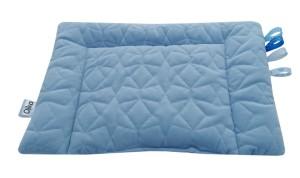 poduszka velvet niebieska z